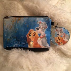 Disney Lady & The Tramp Cosmetic Bag & Mirror key